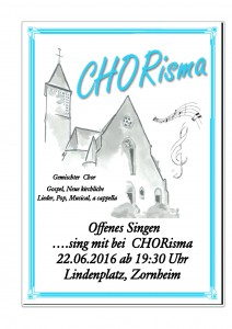 Offenes Singen CHORisma 2016