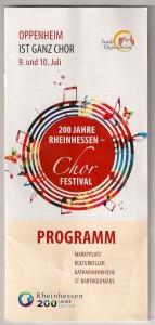Chorfestival 200 Jahre Rheinhessen