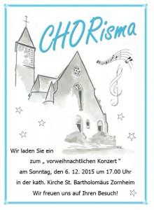 Konzert in Zornheim, Dezember 2015